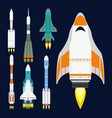 technology ship rocket cartoon design for vector image vector image
