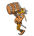 Viking Drunk vector image
