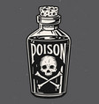 vintage hand drawn bottle poison vector image vector image