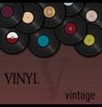 vinyl record music for a postcard or vector image vector image
