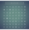 water thin icons set vector image vector image