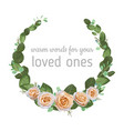 watercolor floral - wreath with bright cream vector image