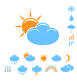 weather forecast icon set vector image vector image