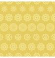 Yellow mustard abstract mandalas striped seamless vector image