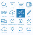 thin line seo and web optimization icon vector image