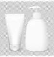 white bottle and tube templates vector image