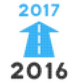 2017 future road halftone icon vector image