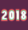 2018 happy new year or christmas background vector image