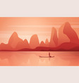 a marvelous landscape with river and mountains vector image