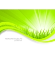 Abstract background with green grass vector image vector image