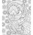 adult coloring bookpage a cute otter image for vector image