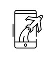 airport app line icon concept sign outline vector image