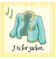 Alphabet J vector image vector image