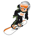Baby Snowboarder vector image vector image