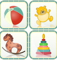 Baby toys icons vector image vector image
