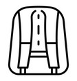 back of backpack icon outline style vector image