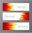 banners with flame on white background place vector image