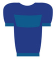 blue t-shirt with blue print on white background vector image