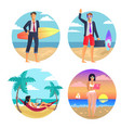 business summer freelance vector image vector image