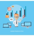 Business Training at Office Banner vector image