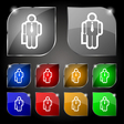 businessman icon sign Set of ten colorful buttons vector image