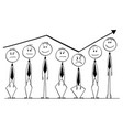 cartoon of group of businessmen rising up and vector image vector image