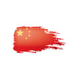 china flag on a white vector image