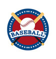 circle sticker to baseball sport game vector image vector image