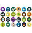 Clocks round icons set vector image