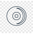 compact disc concept linear icon isolated on vector image