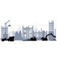 construction and machine equipment vector image vector image