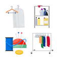 design of laundry and clean logo vector image