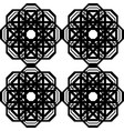 design seamless monochrome lacy pattern vector image vector image