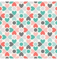 Floral seamless pattern Red green black and white vector image vector image