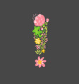 floral summer exclamation mark flower capital vector image vector image