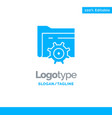 folder setting gear computing blue business logo vector image vector image