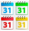 Four colored calendar icons vector image