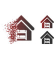 fragmented dotted halftone hostel icon vector image vector image
