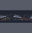 fun hand drawn halloween horizontal seamless vector image vector image