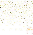 gold glitter background polka dot vector image