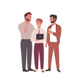 group men dressed in business clothes or office vector image vector image