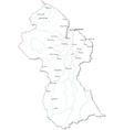 Guyana Black White Map vector image vector image