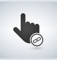 hand cursor and website icon with link sign in vector image vector image