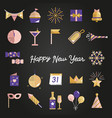 happy new year celebration set vector image vector image