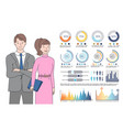 infographics and people dressed formally vector image vector image
