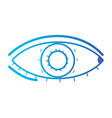 line heathy eye vision and optical care vector image vector image