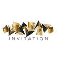 luxury gold and black pyramid triangles pattern vector image vector image