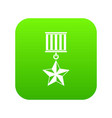 medal star icon digital green vector image vector image