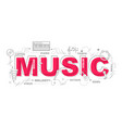 music icons for education graphic design vector image