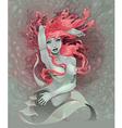 Portrait of a mermaid vector image vector image